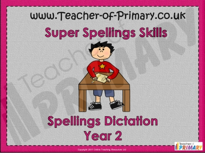 Spellings Dictation Year 2